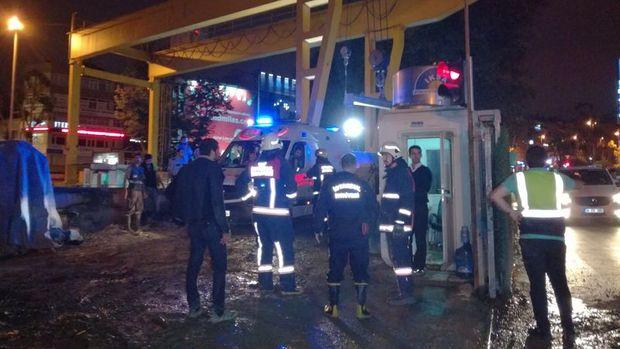 Beşiktaş Metro İnşaatında Kaza