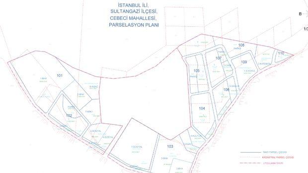 Sultangazi Cebeci ve 50. Yıl Mahallesi Parselasyon Planı Askıda