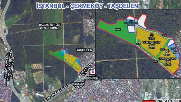 Emlak Konut Çekmeköy Taşdelen Arsasını 23 Mart'ta İhaleye Çıkarıyor