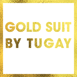 Gold Suit By Tugay Bursa